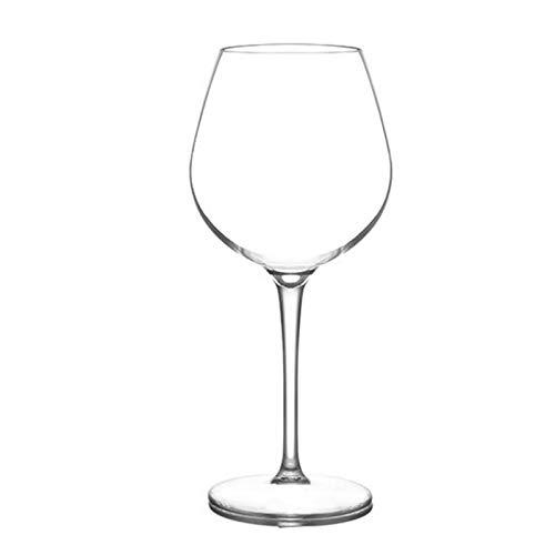 Copas Vino 500 ml de plástico seguro y saludable reutilizable copa roja de vino tinto, claro y transparente, conjunto de taza de copa no rota 1016 (Color : 1 pcs)