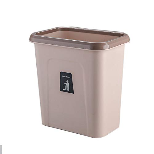 Poubelle Cuisine Grand Classification Plastique Bacs à Ordures, Poubelle De Recyclage Design Suspendu, Pour Cuisine, Salon, Salle De Bain, Chambre à Coucher, Voiture (Marron)
