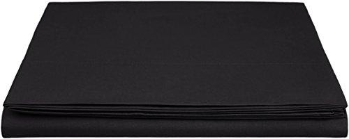 AmazonBasics Everyday - Sábana encimera (100% algodón), 180 x 290 cm - Antracita