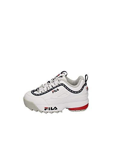 FILA Jungen Unisex Kinder Disruptor Logo Infants Sneaker, White, 22 EU