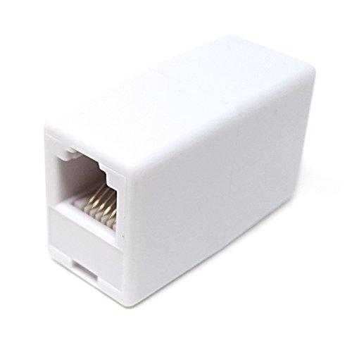 Maincore m (núcleo RJ12 a RJ12 o (RJ11 a RJ11) 6P6C/6 clavijas/acoplador de teléfono/ADSL adaptador de cable/junta/convertido/extenso/enchufe a enchufe/hembra a hembra.