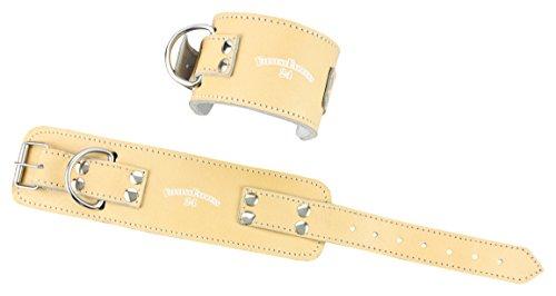 1 Paar Profi Leder Fußschlaufen mit Verschluss f. Kabelzug, Fußschlaufe