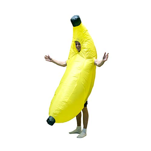 Yellow Banana Inflatable Costume for Adults (One Size)