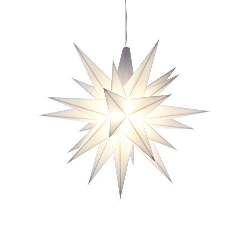 Herrnhuter Stern A1e Kunststoff 13cm weiß