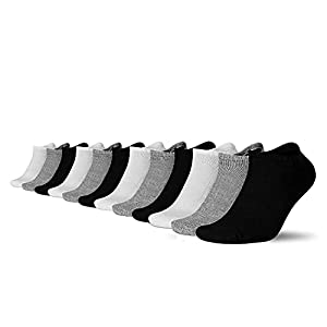 Soo Comfy Ankle Socks –12 Pair Sports Performance Trainer Low Cut Running Soft Cotton Socks - Breathable Comfort Tab Short Nonslip Ankle Footies for Men & Women – Athletic and Casual Wear - Size 6-11