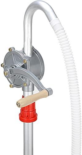 Zerone Pompe à Manivelle, Pompe a Essence Manuelle, Pompe à Huile en Alliage d'Aluminium Pompe de Carburant d'Essence de Diesel d'Huile de Lubrification et Plus