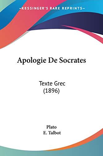 Apologie De Socrates: Texte Grec