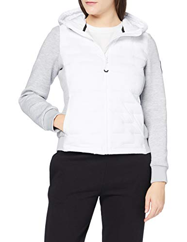 Superdry Womens Storm Sonic Luxe HYBRID Transitional Jacket, White, S