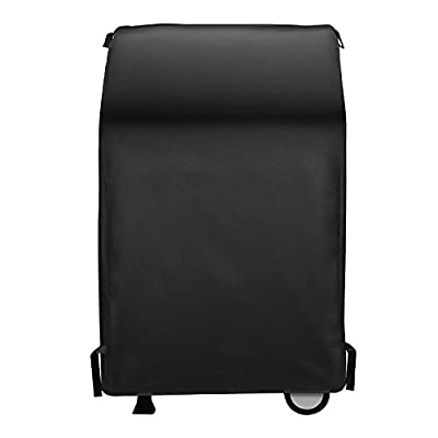 SunPatio 2 Burner Gas Grill Cover 32 inch, Heavy Duty Waterproof Small Square BBQ Grilling Cover, Fits Weber Char-Broil Nexgrill and More Grills with Collapsed Side Tables, Durable FadeStop Material