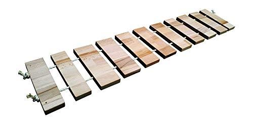 Chrischiii84 Hängebrücke XL für Katzen, 25cm breit, Buche massiv, 70cm - 500cm