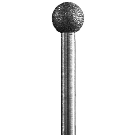 SG1-100 Grit Diamond Bur 3//32 Shank Approximately 2.3mm diameter x 2mm head length Made In USA - Inverted Cone