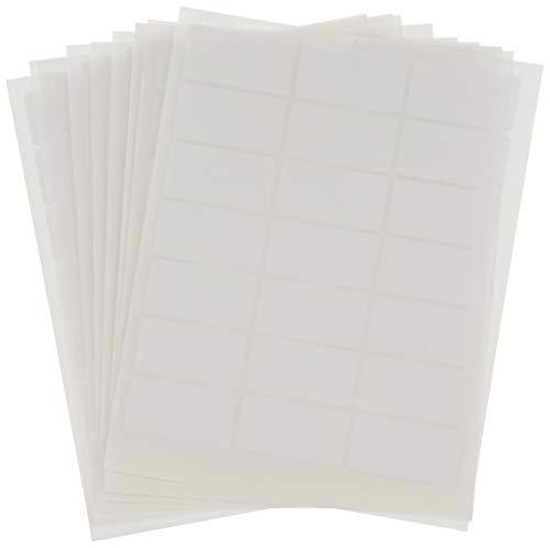 Confezione da 10 Fogli con 21 Etichette Adesive per Foglio Formato mm 37 x 19