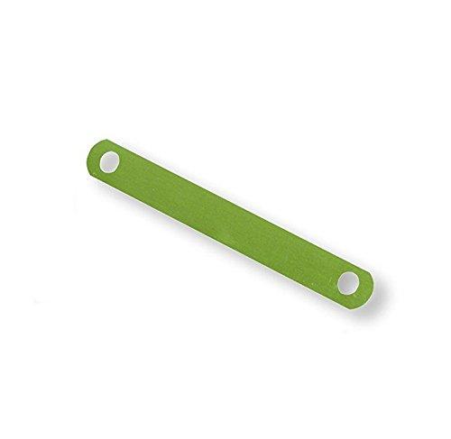 ELBA 100420792 Deckleisten für Schnellhefter aus Metall messingfarben lackiert 100 Stück Streifen Abheftvorrichtung Abheft-Zunge