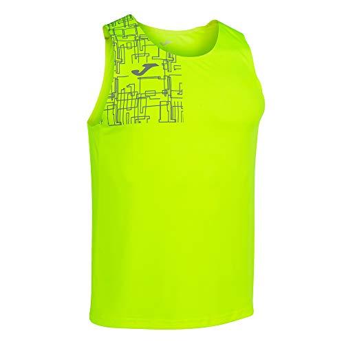 Joma Running Night Camiseta Tirantes Elite VIII Amarillo flúor, M