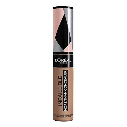 L'Oréal Paris Infaillible More Than Concealer Nr. 336 Toffee, hochpigmentierter Concealer mit hoher Deckkraft und extra großem Applikator, 11 ml