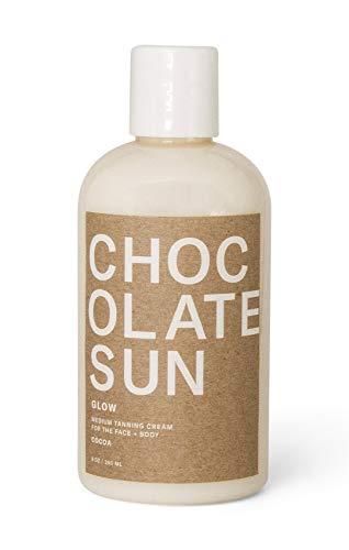 Chocolate Sun - Organic Glow Medium Tanning Cream Face & Body (Medium, 8 oz) | Clean, Non-Toxic Sunless Tanning