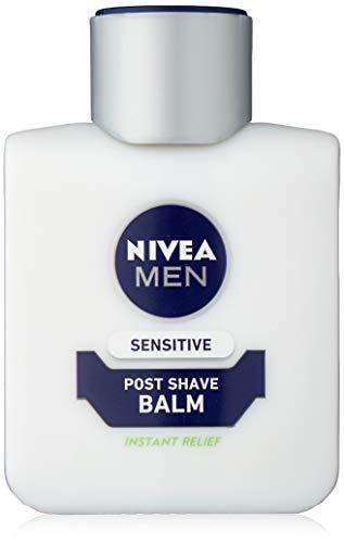 Nivea Men Sensitive Post Shave Balm (100 ml), After Shave Balm for Men with Zero Percent Alcohol, Men's Skin Care and Shaving Essentials.