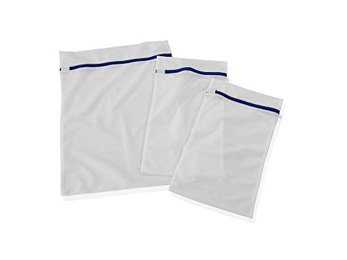 Leifheit Wäschenetz 3er Set, Wäschebeutel in zwei Größen für bis zu 2kg Wäsche, Waschbeutel für schonende Reinigung, Waschsack mit Reißverschluss, strapazierfähiges Material geeignet bis 90°
