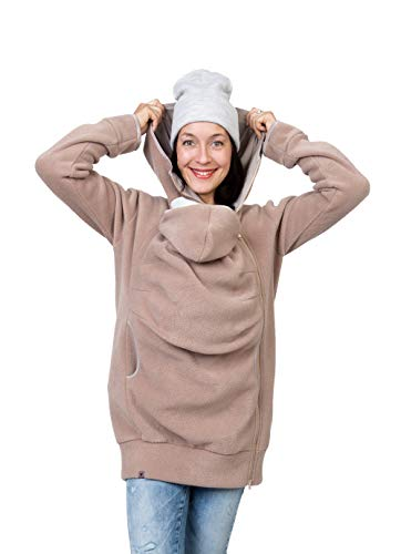 Viva la Mama - Jacke zum Babytragen Tragejacke Fleece - AHOI - beige - XS