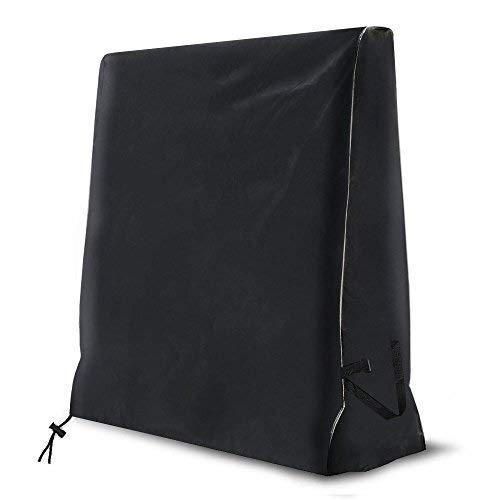 MAGFYLY Multifunctionele zwarte tafeltennistafel, 420D zware weerbestendige outdoor pingpongtafel, afmeting (65 x 27,5 x 72,8 inch)
