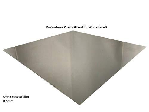 Chapa de aluminio de 0,5 mm, chapa de aluminio AlMg, chapa fina, corte a elegir por ambos lados, no laminado, 900x900mm, 1