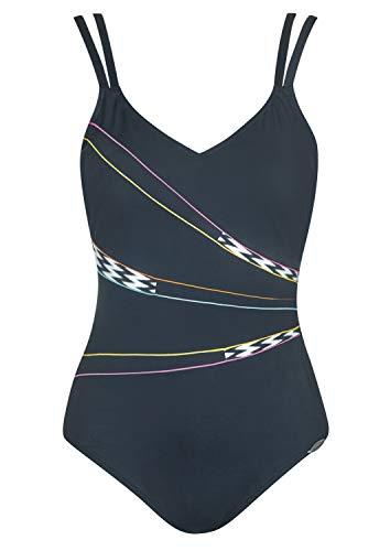 Sunflair Badeanzug Ethno Fantasy Shapewear Cup C, Farbe schwarz/Weiss, Größe 42