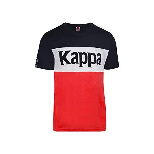 Kappa - T-Shirt Irwing - Man - XL - Bleu Marine, Blanc, Rouge