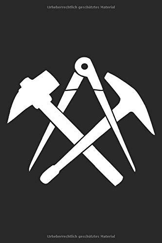 Dachdecker Handwerkszeichen: Dachdecker Zunftzeichen Geschenke Notizbuch Punkteraster punktiert (A5 Format, 15,24 x 22,86 cm, 120 Seiten)