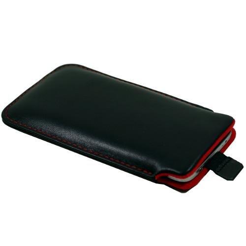 andyhandyshop Echtleder Tasche für Smartphone simvalley Mobile SPX-34, Etui Hülle Slim Case