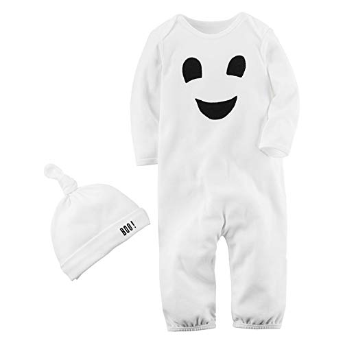 Bebe Niño Halloween Disfraz Esqueleto Peleles de Manga Larga + Sombrero
