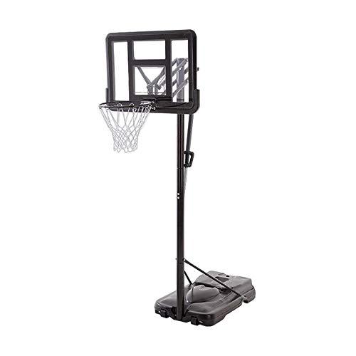 FQCD Aro de baloncesto al aire libre con el soporte del tablero trasero de baloncesto al aire libre for adultos, Sistema de Baloncesto elevable, PVC transparente del tablero trasero, resistente a la c