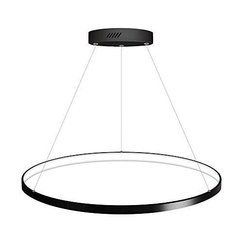 Luminaria colgante ELIX, 36W, negro, Ø57cm, Blanco neutro