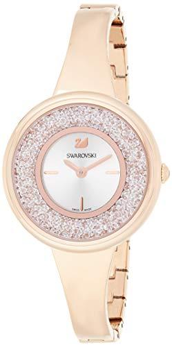 Swarovski Reloj de mujer cuarzo analógico correa de acero dorado dial blanco 5269250
