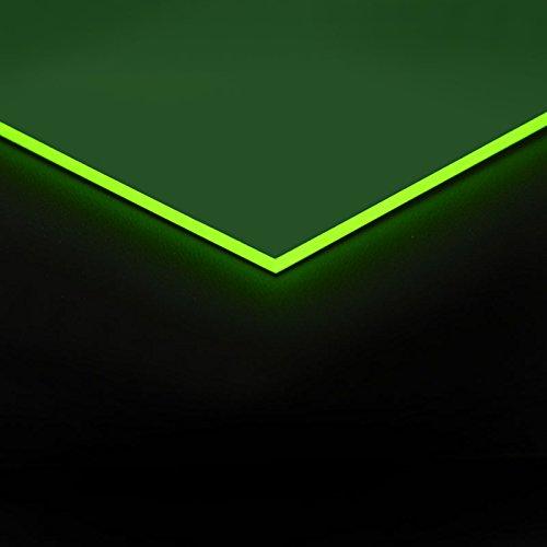 3mm Acrylglas Platte 50x25 cm grün fluoreszierend