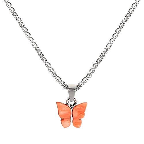 AdorabFruit Présent Pendentif Collar Colgante de Mariposa Brillante para Las Mujeres niñas Color...