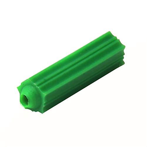 Punto de anclaje 500 piezas de expansión de plástico M6 M8 Tornillo de mampostería verde de la mamposa de fijación de la pared Enchufe de anclaje de tapping TORNO DE EXPANSIÓN TUBO Sujetadores de uso