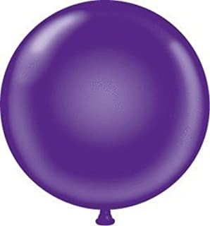 "Maple City Rubber Tuftex Latex Balloons, 17"", Purple"