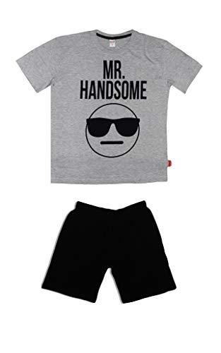 Emoji Conjunto de pijama corto de algodón para hombre