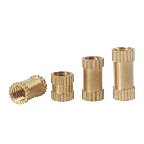 M2 M2.5 M3 M4 M5 Injection Molding tuerca de bronce Insertar moleteada Nuts moleteado Parts Embedded Longitud 12 mm M3 (100Pcs)