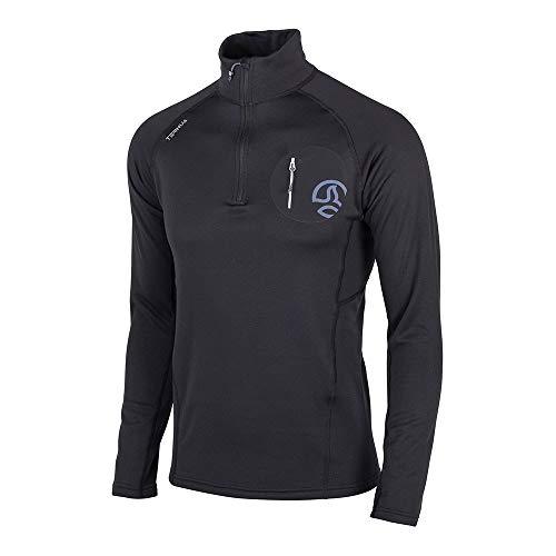 Ternua Camiseta Lezat 1/2 Zip M Camiseta, Sin género, Black, M