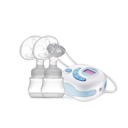 Double/Simple Électrique Sein Pompe avec 6 Massage Modes et 12 Ajustable Succion Niveaux Silencieux Automatique Traite Machine LCD Afficher Et Rechargeable lithium Batterie,Blue,DoubleElectric