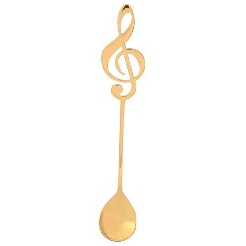 Musik Note Löffel Kreative Süße Teelöffel Edelstahl Kleiner Löffel Für Kaffee Iced Dessert Tee(2#)