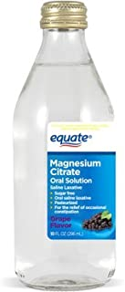 Equate - Magnesium Citrate Oral Solution, Saline Laxative, Grape Flavor, 10 Fl Oz