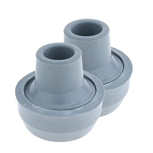 B Baosity 2 Stück Anti-Rutsch Gehhilfenfuß für Gehstöcke Gehhilfen Gehstock Tipps Krücke Gummi-Tipps 5/8 Zoll
