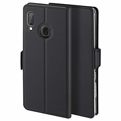 YATWIN Handyhülle für Samsung Galaxy A20E Hülle Premium Leder Flip Hülle Schutzhülle für Samsung Galaxy A20E Tasche, Schwarz