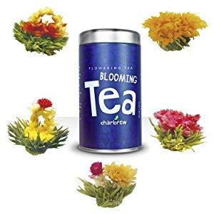 Bulbos de Té en Flor de Charbrew (5 Flores Diferentes de Té) Bolas de Té Verde y de Jazmín Envasadas al Vacío Una Por Una