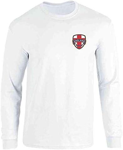 England Football Hope Glory Soccer National Team White L Full Long Sleeve Tee T Shirt product image
