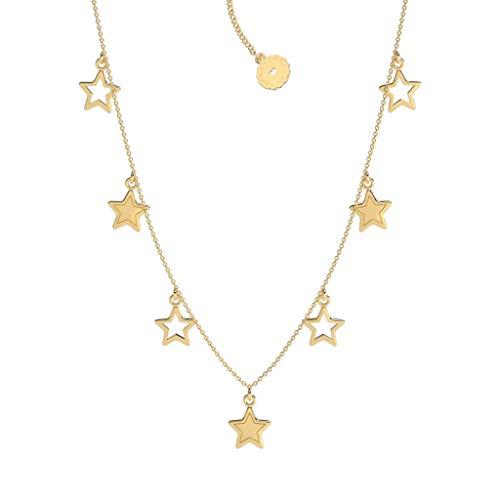 Lora di Lora Ketting Chikki Star. Korte ketting, in lengte verstelbaar 18K Vermeil Goud voor Vrouwen 36 cm + 5 cm