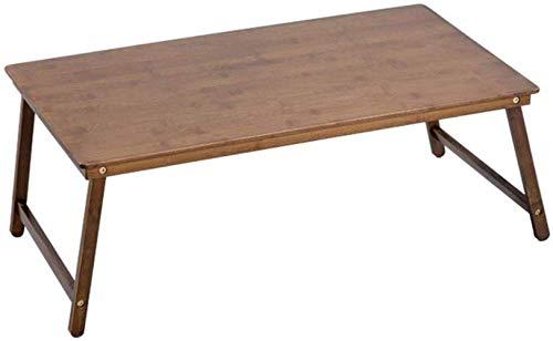 Conveniencia QFF mesa para computadora Mesa plegable liviana con mesa para computadora portátil Dormitorio de estudiantes Estudio Mesa pequeña Escritorio (color: marrón oscuro, gris 70 * 39 * 27 cm),