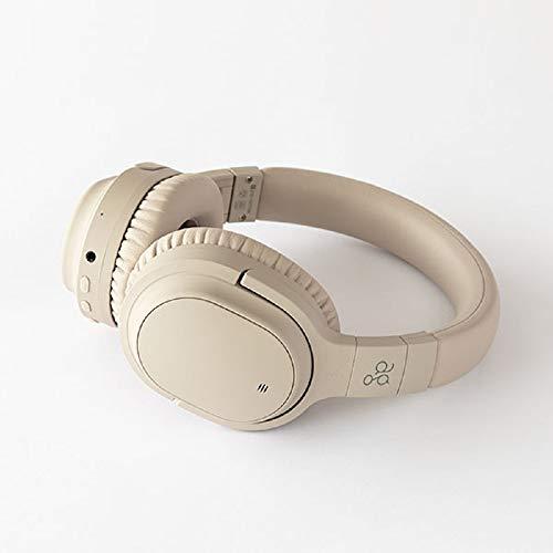 ag WHP01K 【AG-WHP01K】 ワイヤレス ヘッドホン Bluetooth ノイズキャンセリング ノイキャン ANC マイク付き(クリーム)